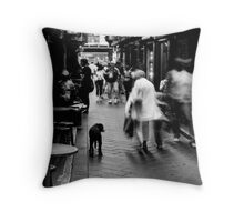 Dog In Melbourne Throw Pillow