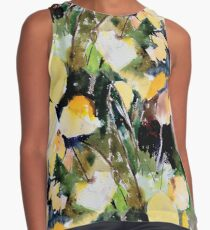 Round Yellow Leaves Contrast Tank