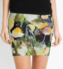 Round Yellow Leaves Mini Skirt