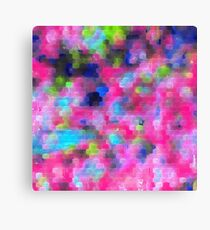 geometric square pattern abstract background in pink blue green Canvas Print