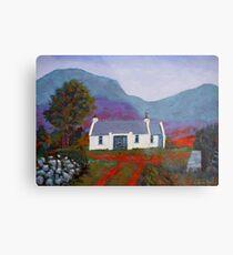 Cottage, Mountain (Ireland) Metal Print