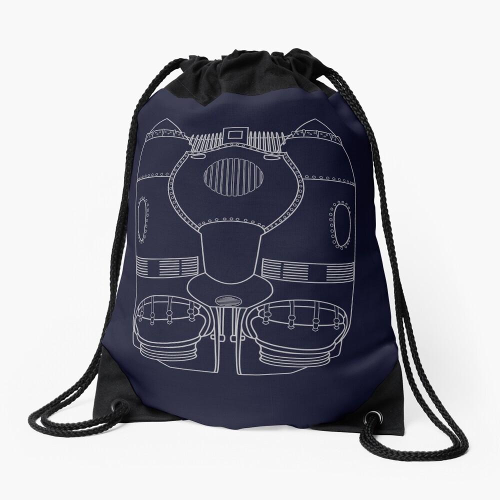 Rocketeer Rocket Jetpack Schematics  Drawstring Bag
