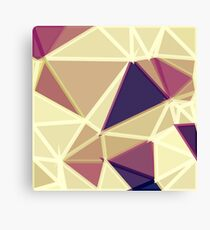 geometric triangle polygon pattern abstract in brown and red Canvas Print
