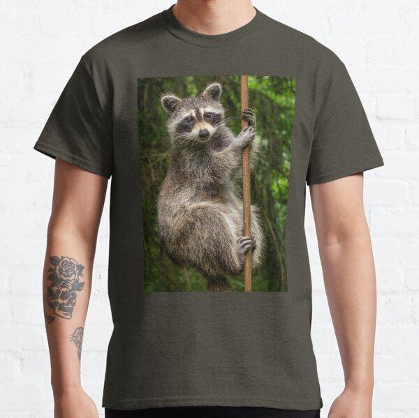 Raccoon Pole Dancer - Wildlife in the Bird Yard Classic T-Shirt