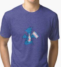 Baby Pride Dragons - Transgender Tri-blend T-Shirt