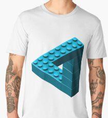 Escher Toy Bricks - Aqua Men's Premium T-Shirt