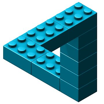 Escher Toy Bricks - Aqua by chwatson