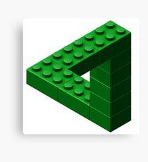 Escher Toy Bricks - Green Canvas Print