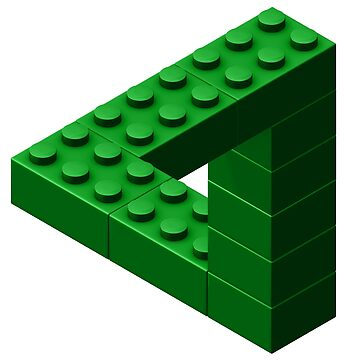Escher Toy Bricks - Green by chwatson