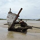 Shipwreck Bunbeg Beach Donegal Ireland by mikequigley