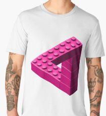 Escher Toy Bricks - Pink Men's Premium T-Shirt