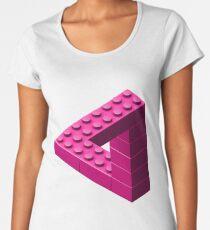 Escher Toy Bricks - Pink Women's Premium T-Shirt