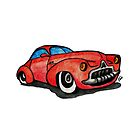 Red Classic CAR 02 by Jorge Antunes