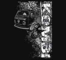 Volkswagen Kombi Tee shirt - Grunge black and white