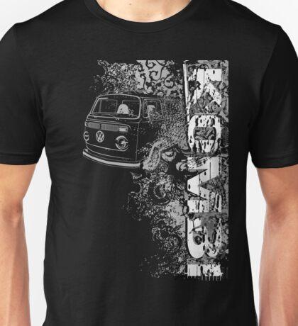 Volkswagen Kombi Tee shirt - Grunge black and white T-Shirt