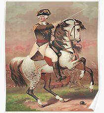George Washington at the Battle of Trenton Poster