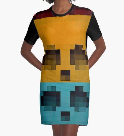 Emojii skullii-pix • 15 Graphic T-Shirt Dress