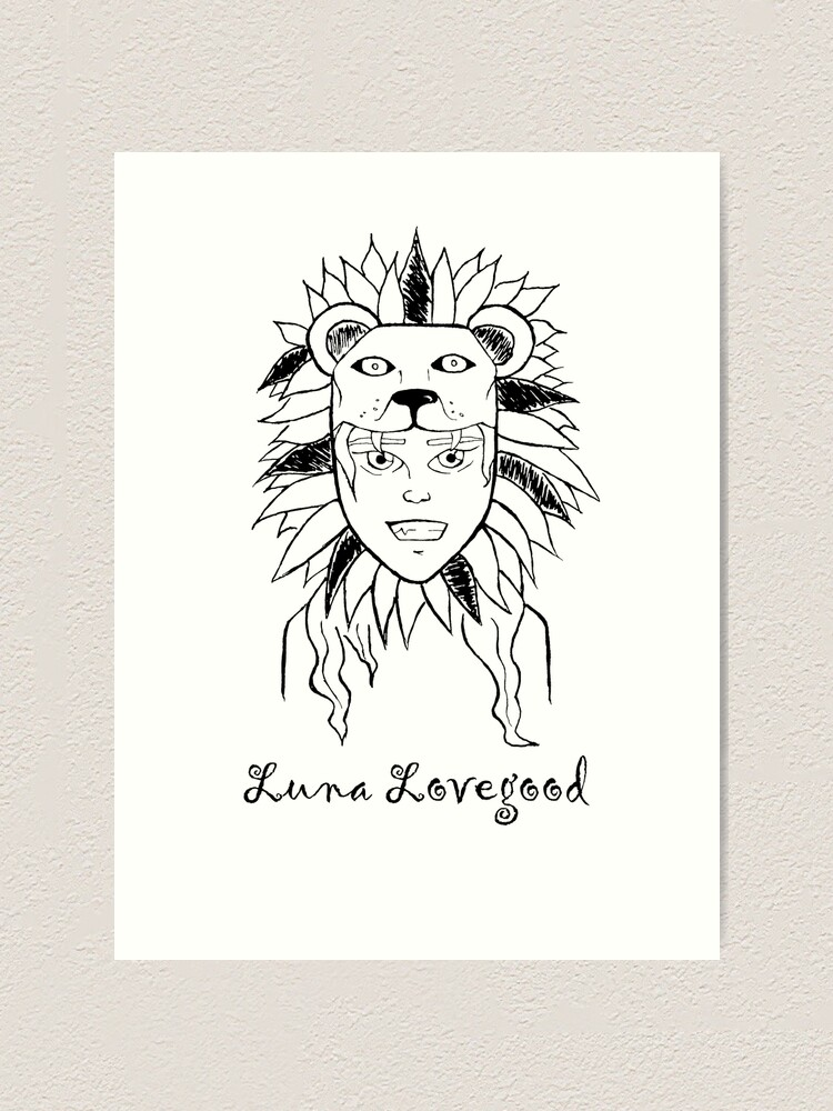 Luna Lovegood Art Print By Naycouto Redbubble