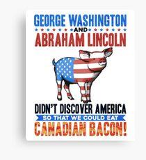 Abe Lincoln George Washington History Prank Canvas Print