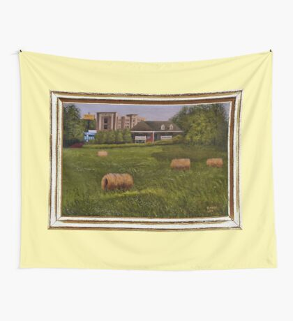 A LITTLE BIT OF COUNTRY, ACRYLIC PAINTING, DISPLAYED WITH SYNTHETIC FRAME Wall Tapestry