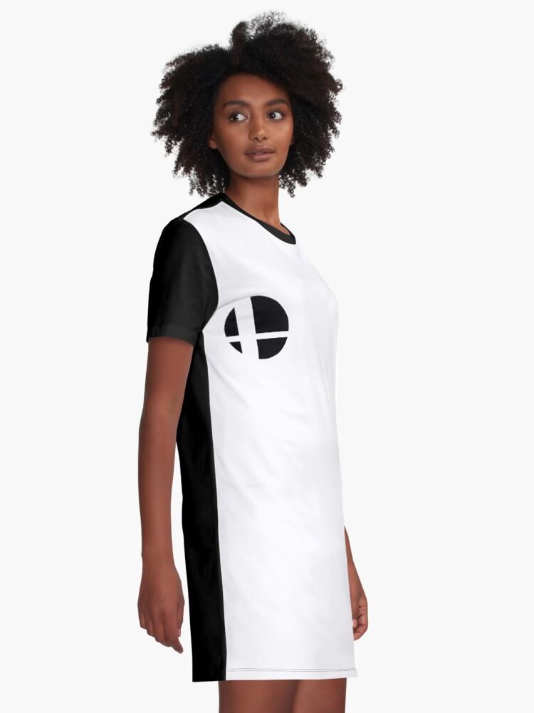 Alternate view of Super Smash Bros. Ultimate LOGO! Graphic T-Shirt Dress