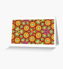 colors violet blue design digital abstraction seamless colorful repeat pattern Greeting Card