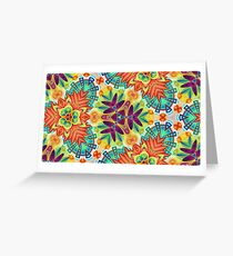 cover colorful abstract seamless repeat pattern Greeting Card