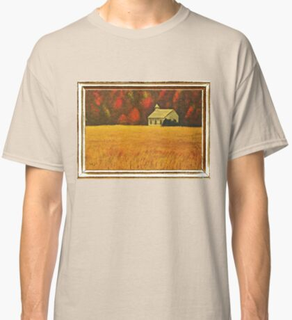 MOUNTAIN AUTUMN, ACRYLIC PAINTING, DISPLAYED WITH SYNTHETIC FRAME  Classic T-Shirt