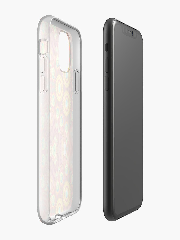 Coque iPhone « conception psychédélique multicolore transparente motif de répétition coloré », par Abrahamjrnd