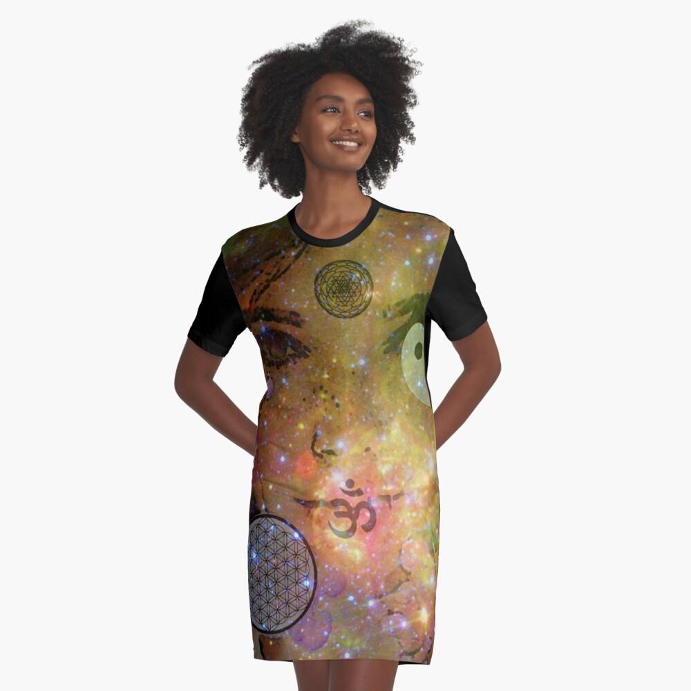 High Magic Graphic T-Shirt Dress Front