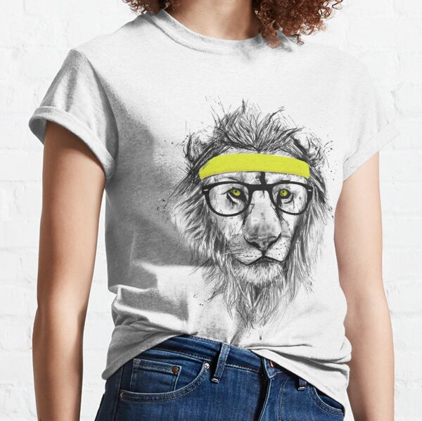 Hipster lion (light background) Classic T-Shirt