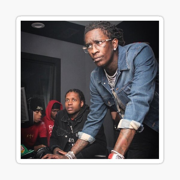 Young Thug Computer Sticker
