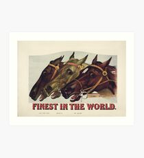 Finest in the World - Vintage Horse Racing Print Art Print