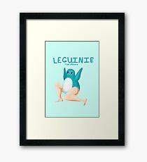 Leguin - Teal Framed Print