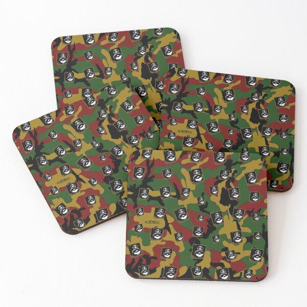 Camo-Rasta Boombox Coasters (Set of 4)