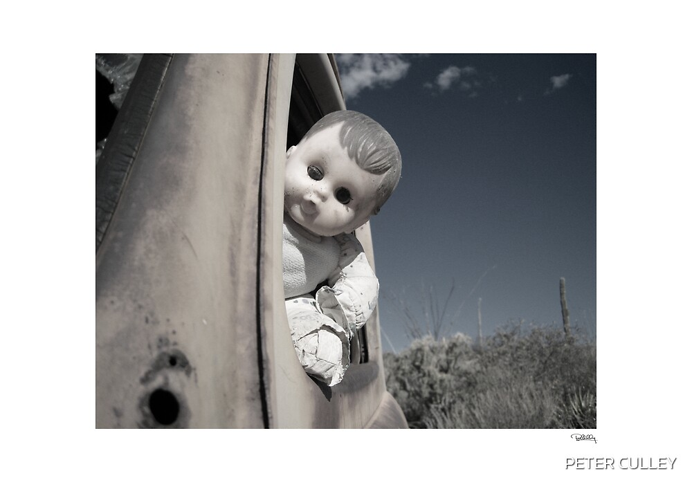 Doll at the wheel by PETER CULLEY