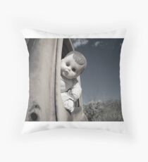 Doll at the wheel Throw Pillow