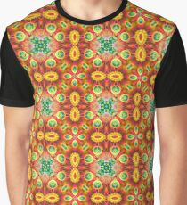 bright blue design multi-colored colorful digital violet seamless repeat pattern Graphic T-Shirt