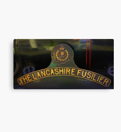 Name Plate 'The Lancashire Fusilier' Canvas Print