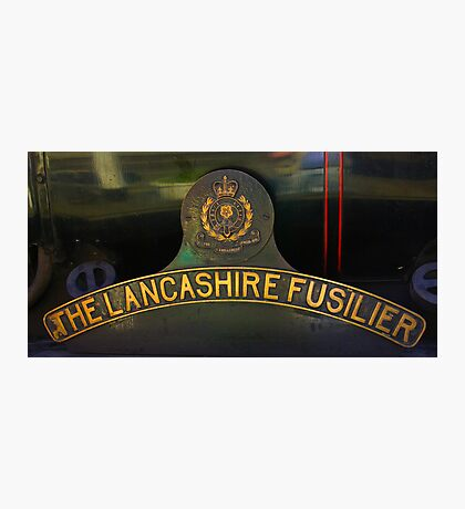 Name Plate 'The Lancashire Fusilier' Photographic Print