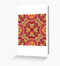 red colors bumper garden seamless colorful repeat pattern Greeting Card