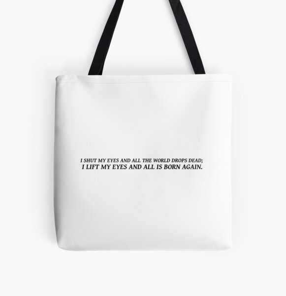 Sylvia Plath quote - eyes All Over Print Tote Bag