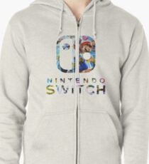 Nintendo Switch Logo Zipped Hoodie