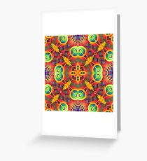 violet digital abstract seamless colorful repeat pattern Greeting Card