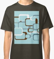 Retro squares with Light Blue Background Classic T-Shirt