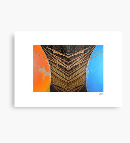 Tiki Canoe • Makawayan Metal Print