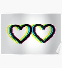 Queer Eye Style Logo (Two Hearts) Poster
