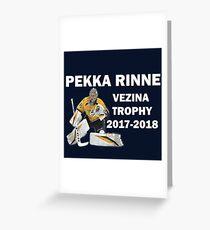 Pekka Rinne - Vezina Trophy Winner 2017-2018 - Nashville Predators Greeting Card