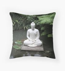 Oriental Statue Throw Pillow