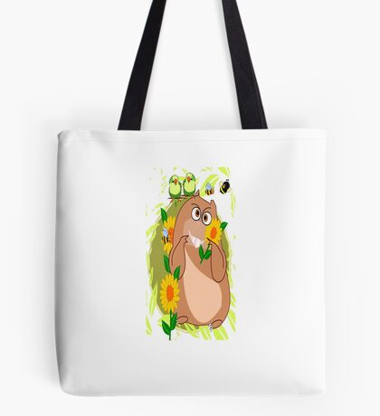 Hamster with His Friends Greetings (2912 Views) Tote Bag